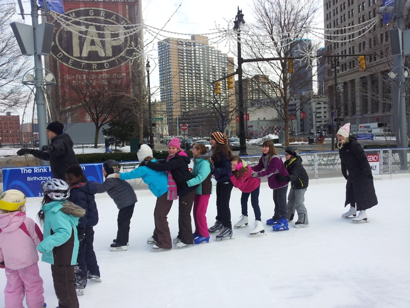 Ice Skating at Campus Martius