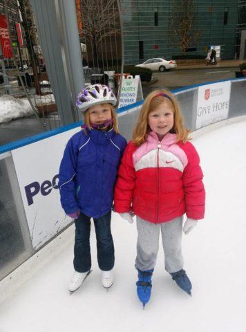 Skating at Campus Martius Detroit